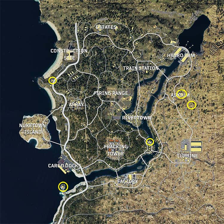 Zombie maps and location spot